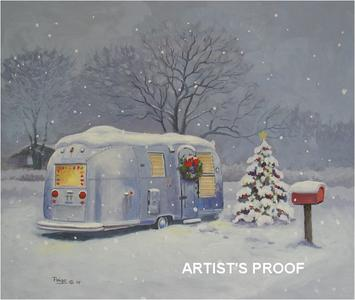 Rv art gallery art gifts for those enjoying the rv for Airstream christmas decoration